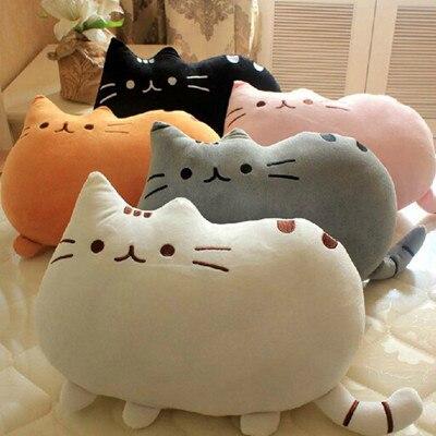Creative cute cat biscuits plush pillow cushion pillow