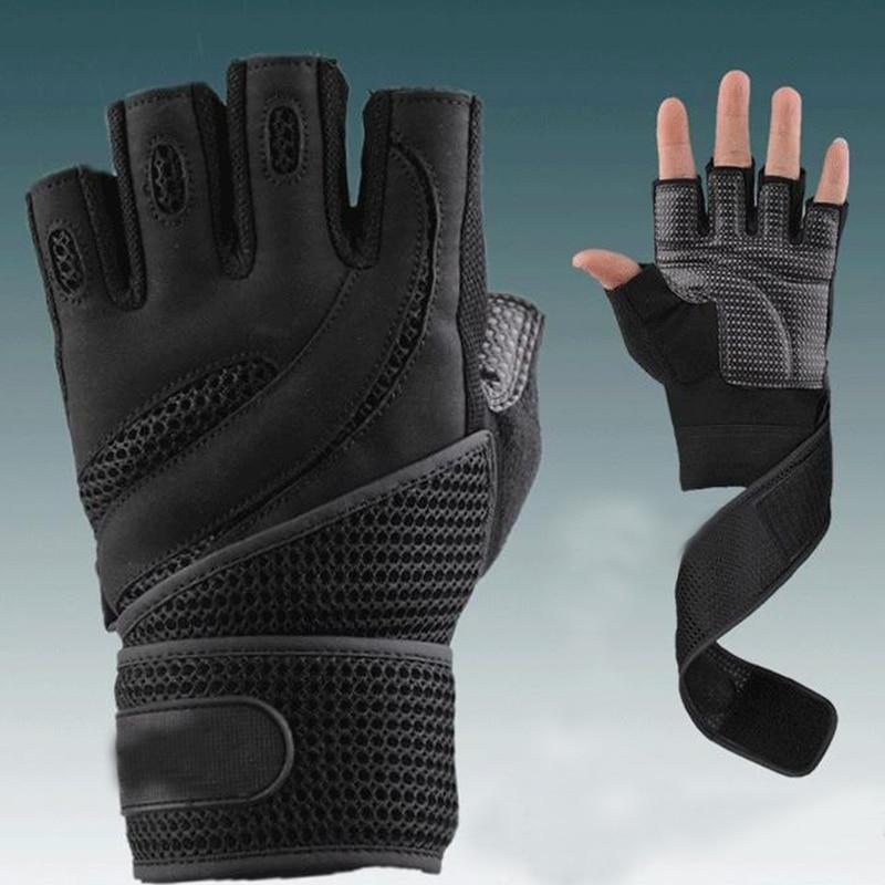 Männer Gym Bodybuilding Training Marke Fitness Handschuhe Sportgeräte gewichtheben Workout Übung Luvas atmungs Wrist Wrap