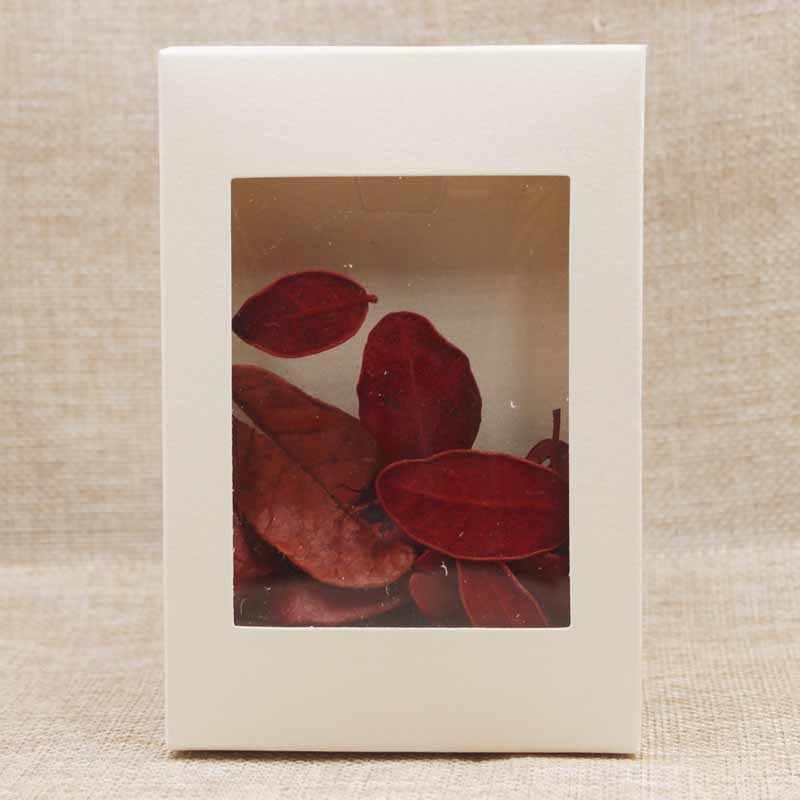 Pacote de papel e caixa de exibição multicolorida, pacote de luxo de pvc transparente para doces e casamentos com janela caixa 10 peças