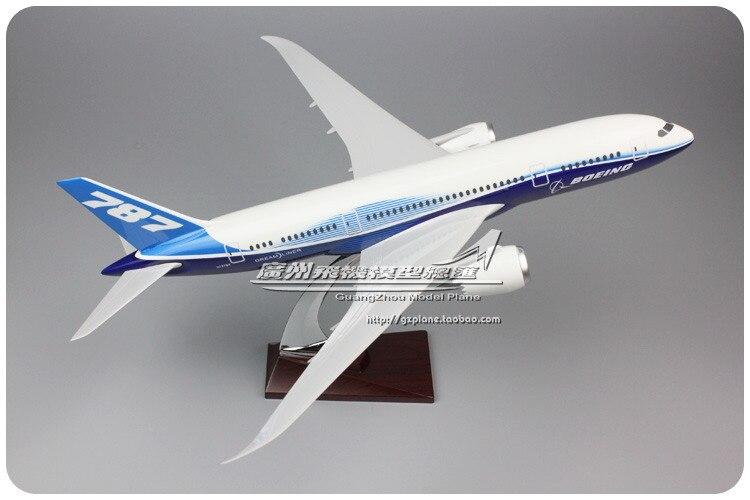 Modèle d'avion Prototype en résine 43 cm modèle d'avion B787 Airlines modèle Boeing 787 Airbus Airways modèle Stand artisanat Aviation Collection
