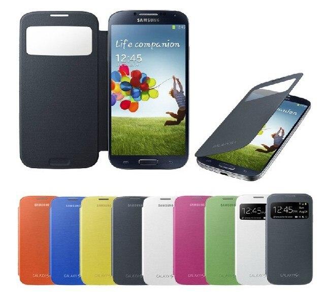 Flip Case for Samsung Galaxy S4 IV i9500 Original Dormancy sleep function cover flip battery case mobile phone bag freeshipping
