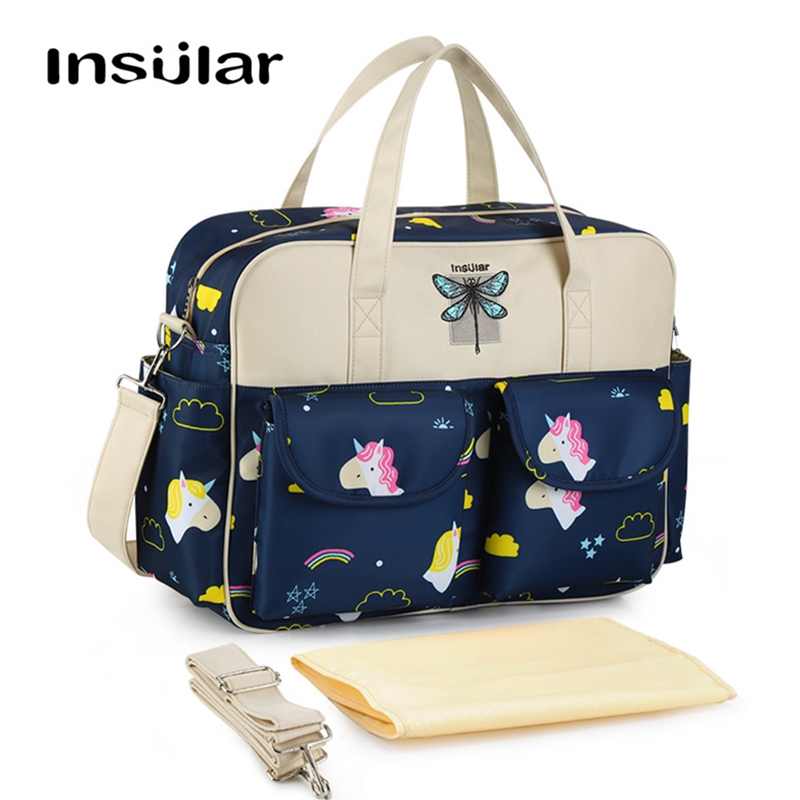 !!New Arrival!! Stylish Large Diaper Tote Bag Cute Nappy Mommy Maternity Baby Bag For Shoulder Messenger Stroller