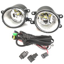 2pcs LED Fog Lights with wires For Toyota Corolla Avensis Camry Ractis Verso RAV 4 2003-2014 Fog Lamp Assembly high brightness стоимость
