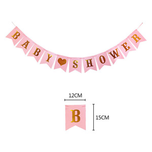 Image 2 - 1 Juego de decoración para fiesta de bienvenida de bebé, pancarta de papel, guirnalda, juego de vajilla, Genderl, suministros de fiesta para niño y niña