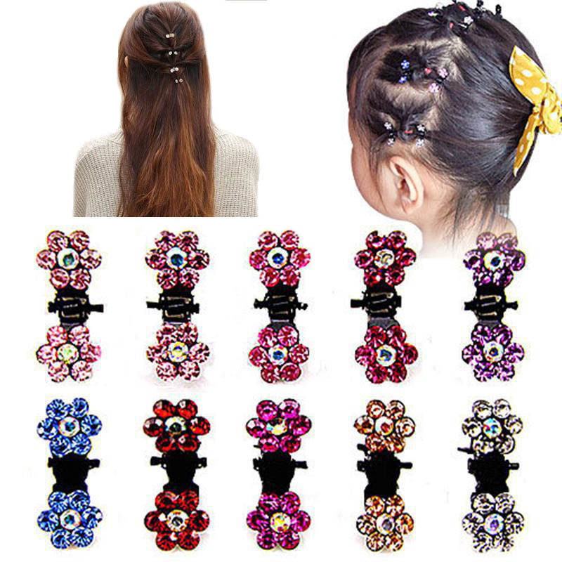 12 Teile/satz Frauen Haarnadeln Kristall Blume Mini Haarspangen Klaue Clamp Haarspange Mädchen Haar-accessoires Babystirnband Hohe Belastbarkeit