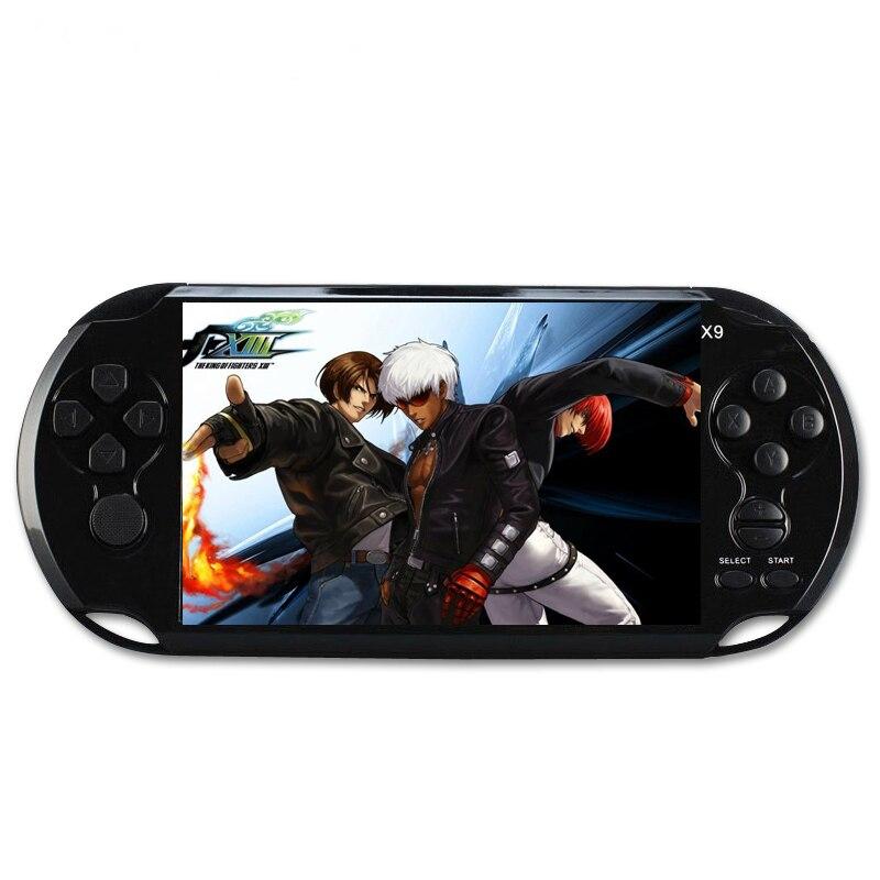 X9 портативные игровые приставки игрока 5.0 большой Экран консолей Поддержка ТВ Выход с MP3 фильм Камера с 10000 + игры