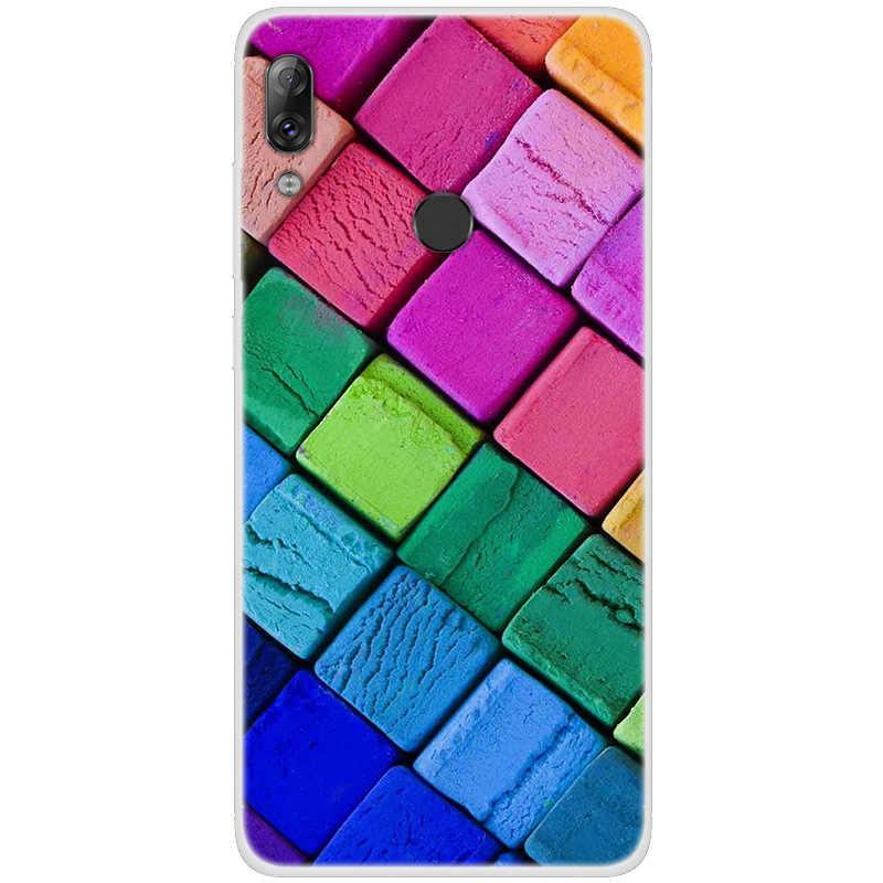Цветной чехол с рисунком для lenovo K5 play A536, окрашенный чехол для телефона lenovo K5 play A536, мягкое Силиконовое полное заднее покрытие