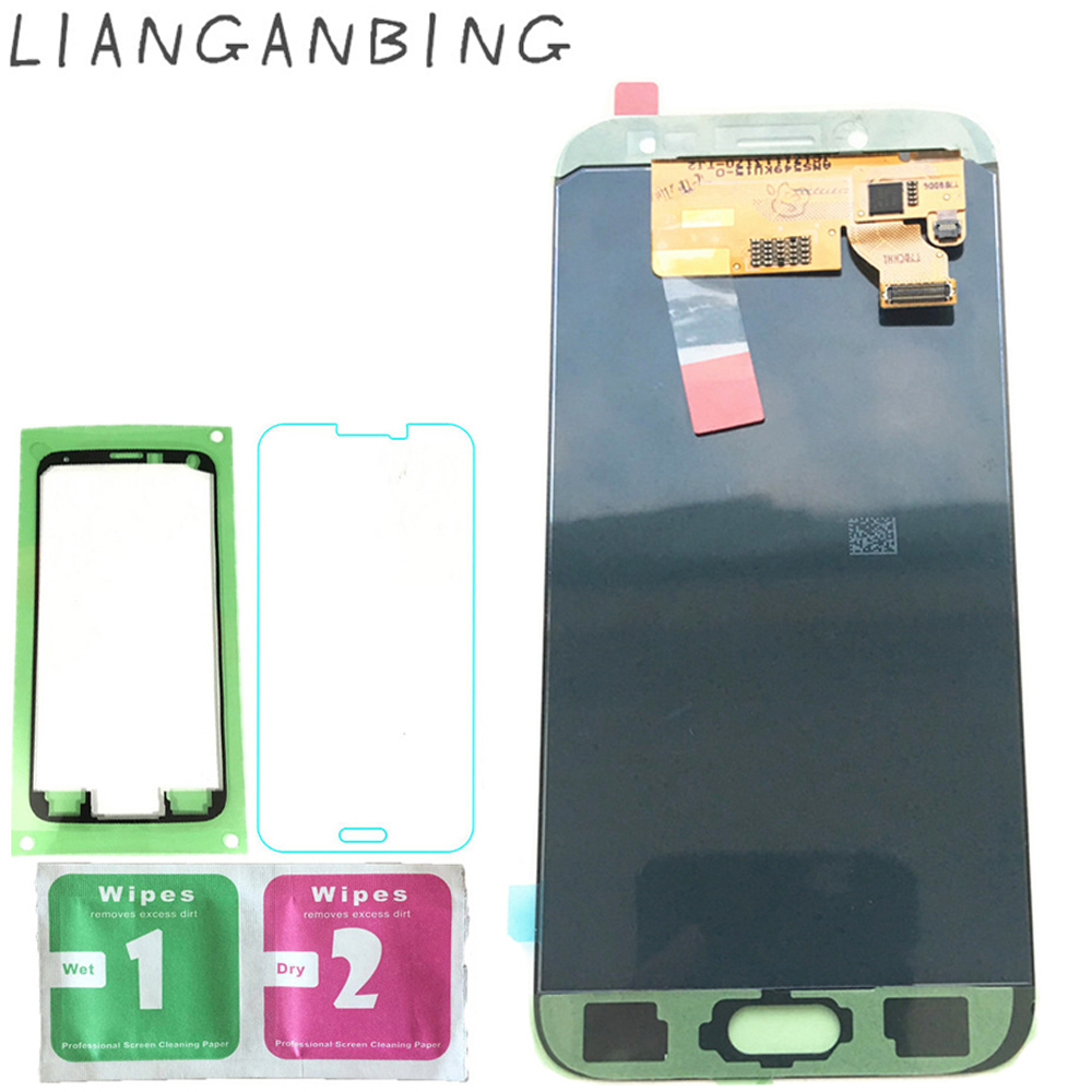 New Super AMOLED LCD J7 Pro 2017 J730 J730F Affichage 100% testé Travail Tactile Assemblée D'écran Pour Samsung Galaxy Noir Or lcd