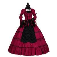 Renaissance Wench Gothic Princess Dress Ball Gown Steampunk Sexy Vampire Theatre Halloween Costume