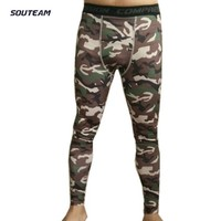 2017 New Skins Compression Running Tight For Men Sportwear Trousers Slim Camo Workout Bodybuilding For Running