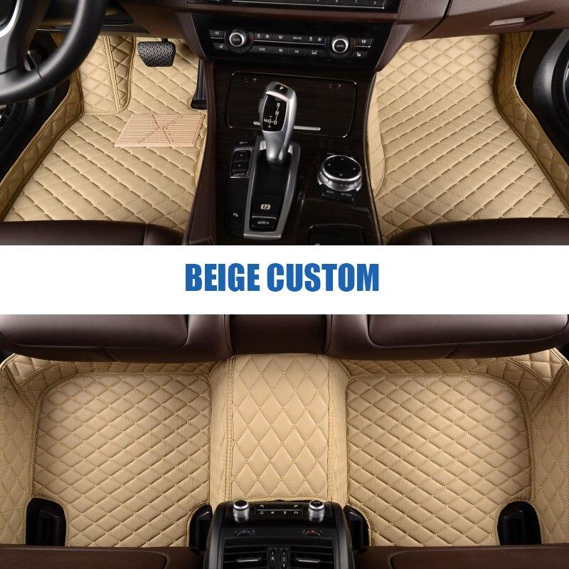 Custom car floor mats for Hyundai All Models solaris ix35 30 25 Elantra MISTRA GrandSantafe accent car styling floor mat