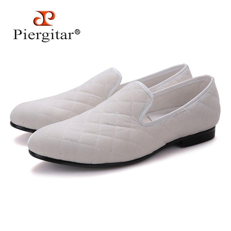 Azul branco Calçados Mocassins E Teste Manta Chinelos Artesanato Padrão Homens Masculinos Brancos Dos Casuais Fumadores Veludo Sapatos Com Azul Britânicos Costura De Da wB1qZT