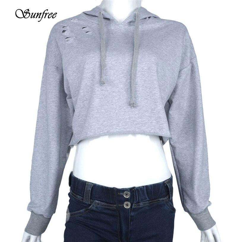 4e942cd64bf Женская Толстовка Джемпер укороченный топ пальто спортивный пуловер Топы