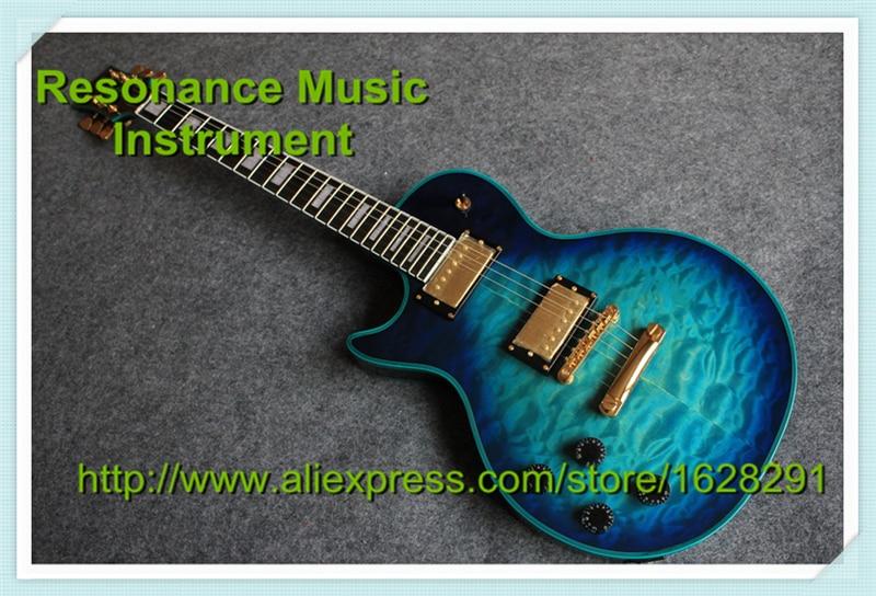 все цены на Limited Edition Custom LP Guitar Left Hand Lefty Body Vintage Blue Finish Golden Hardware