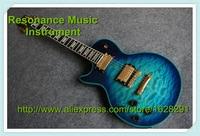 Limited Edition Custom Suneye LP Guitar Left Hand Lefty Body Vintage Blue Finish Golden Hardware