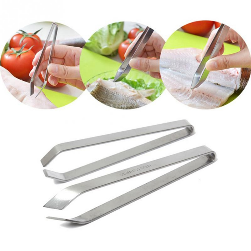 Stainless Steel Fish Tweezers Fish Bone Remover Pincer Puller Kitchen Cooking Tools Fishing Tools New Sales Y6