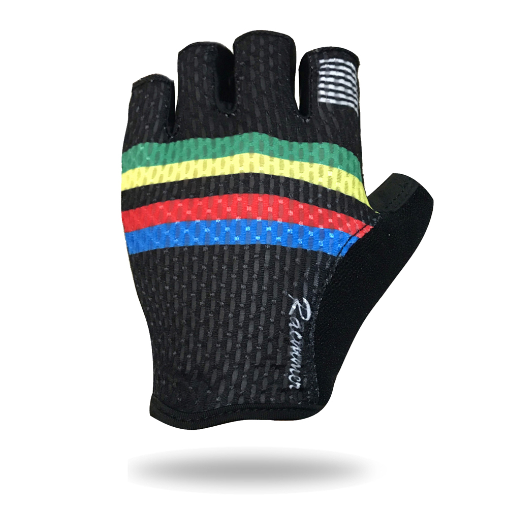 Racmmer 2019 New Arrival Half Finger Cycling Gloves Nylon Unisex Sports Gloves Road/MTB Bicycle Gloves Guantes Ciclismo #CG-06