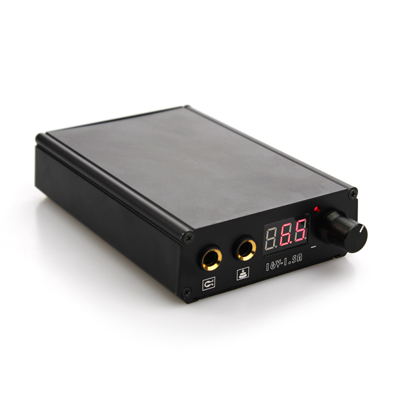 UPTATSUPPLY Professional Mini Tattoo Power Supply Black Power Can Work Rotary Machine Footswitch And Charge Power Supply