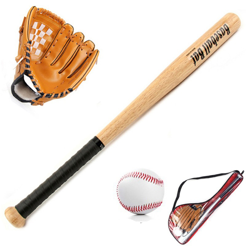 1 Set Healthy Sport Soft Baseball Bat Glove and Ball Set Baseball Practice Equipment Outdoor Softball Pitcher's Gloves