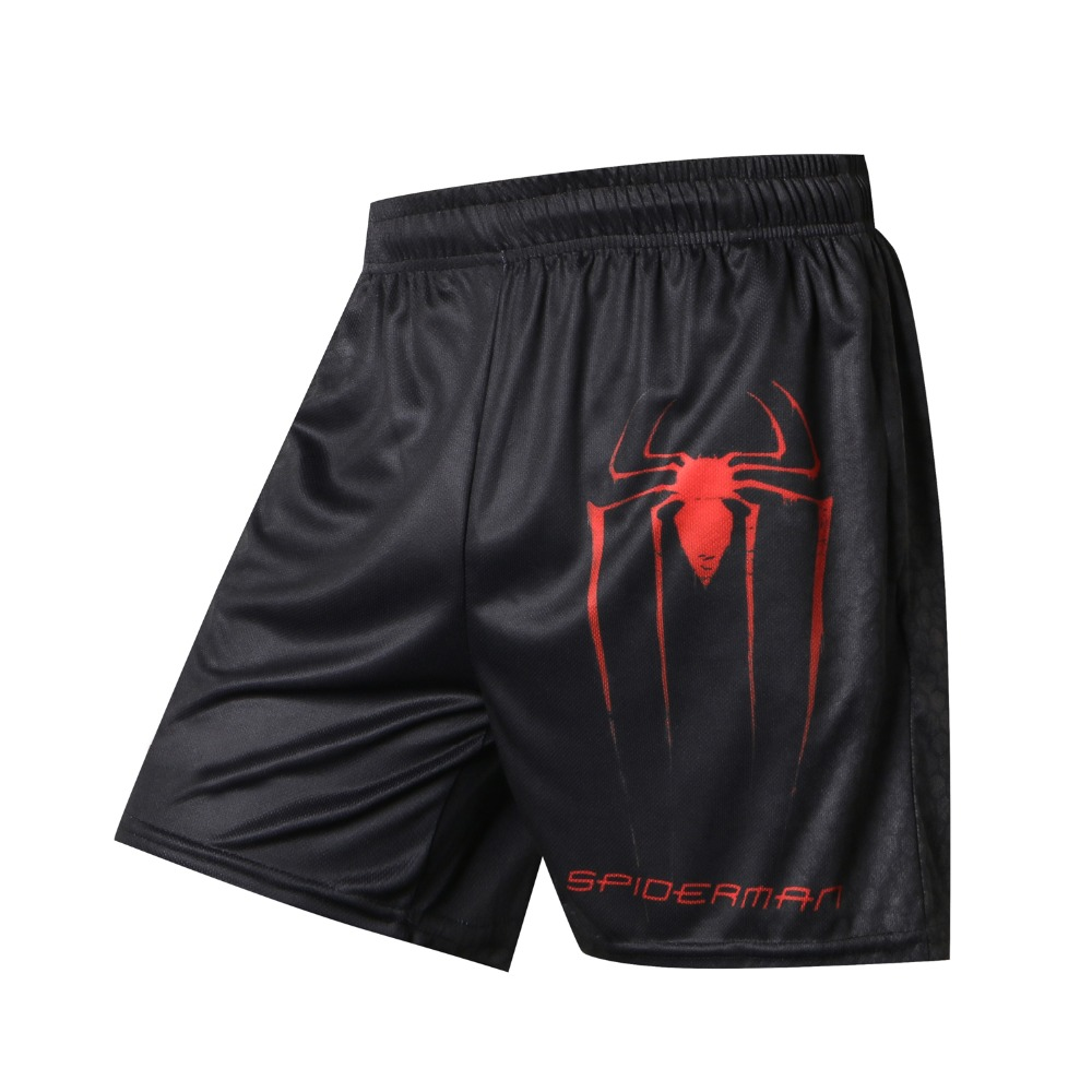 Spider-Man 3D Printer Beach Board Shorts Mens Summer Jogger Plus Compression Man Shorts Skinny Bodybuilding Fitness Shorts