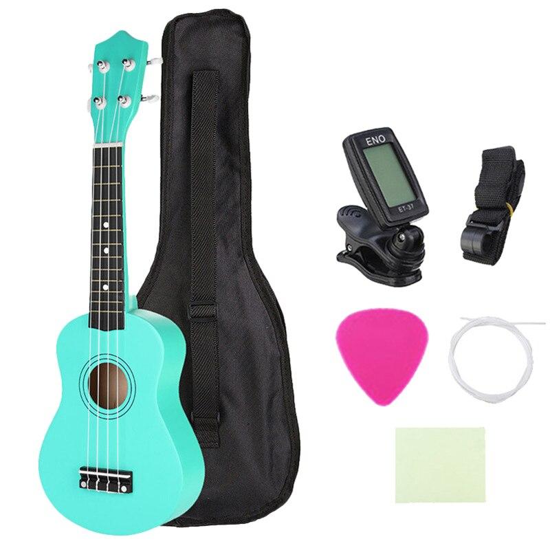 21 Inch Soprano Ukulele Kids Green Acoustic Mini Guitar Instrument + Gig Bag21 Inch Soprano Ukulele Kids Green Acoustic Mini Guitar Instrument + Gig Bag