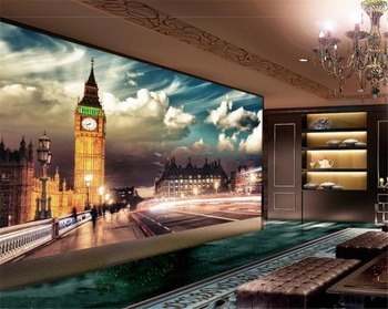 Wholesale Photo Wallpaper Space London City Night Scene Big Ben Elizabeth Tower Background HD Digital Wallpaper wallpaper city guide milan 2014