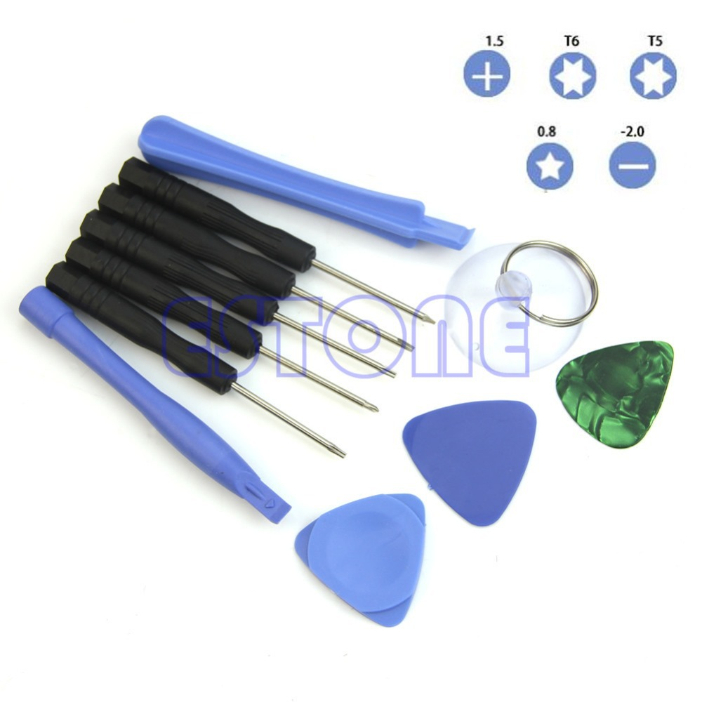 OOTDTY F85  Free Shipping 11 In 1 Mobile Repair Opening Tool Kit Set Pry Screwdriver For Phone Universal brand proskit sd 9326m consumer electronic equipment repair kit tool set for phone pc computer repair hand tools free shipping
