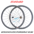 DEERACE 1149g 38mm 700c Carbon Road Tubular Wheels Bicycle Wheelset 23mm or 25mm Width with Novatec/ Powerway/ Bitex Hubs