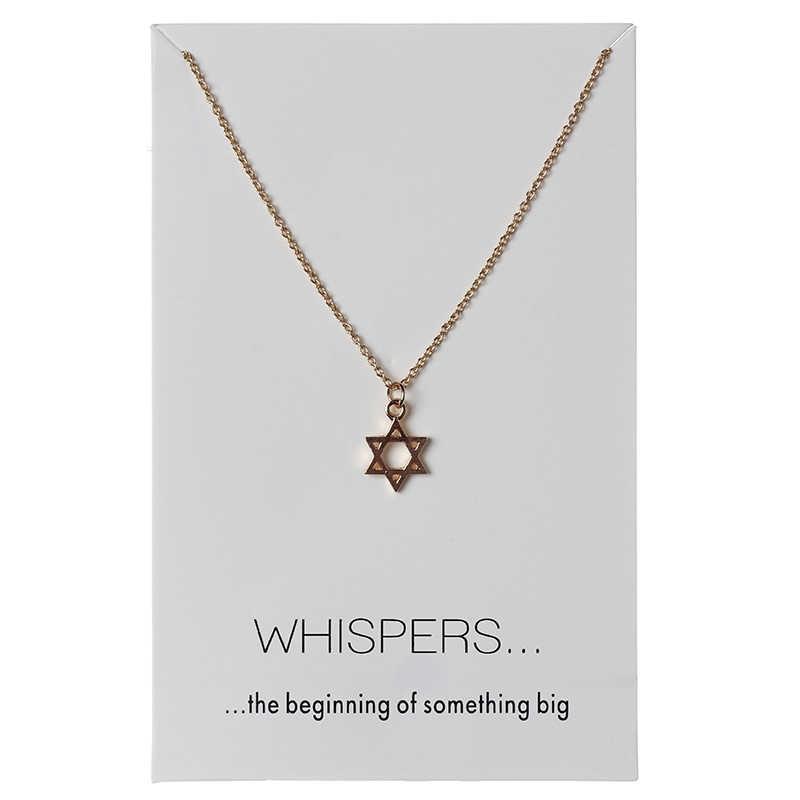 1 pc 2 minimalistyczny style gwiazdy Charms karta życzeń Choker naszyjniki linki łańcuchy złota płyta dla kobiet oświadczenie biżuteria prezent