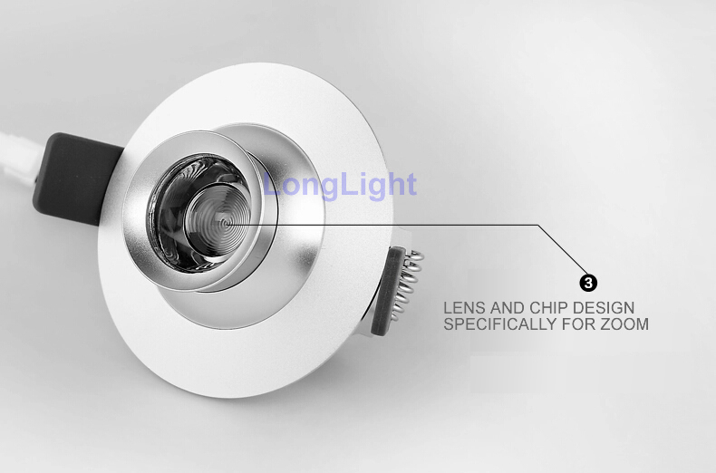 New Cob Led Spotlight Zoom 360 Degree Rotation Cree 5W AC110-240V Display Cabinet Sopt Led lighting Bathroom 3000K-6000K levett caesar prostate massager for 360 degree rotation g spot