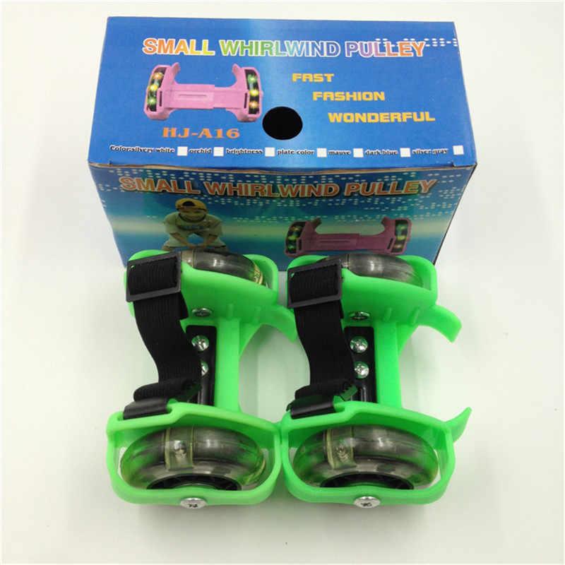 1 çift Yanıp Sönen Çocuk Silindir Ayakkabı Paten Tek Tekerlekli çocuk ayakkabıları Heelys Çocuk Tekerlekli Ayakkabı 5 Renk Dropship