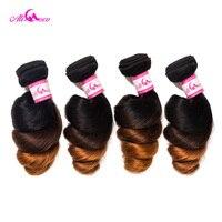 Ali Coco Brazilian Loose Wave Bundles 4 Bundle Deals 1B/4/30 Color 100% Human Hair Bundles 12 28 Inch Remy Hair Extension