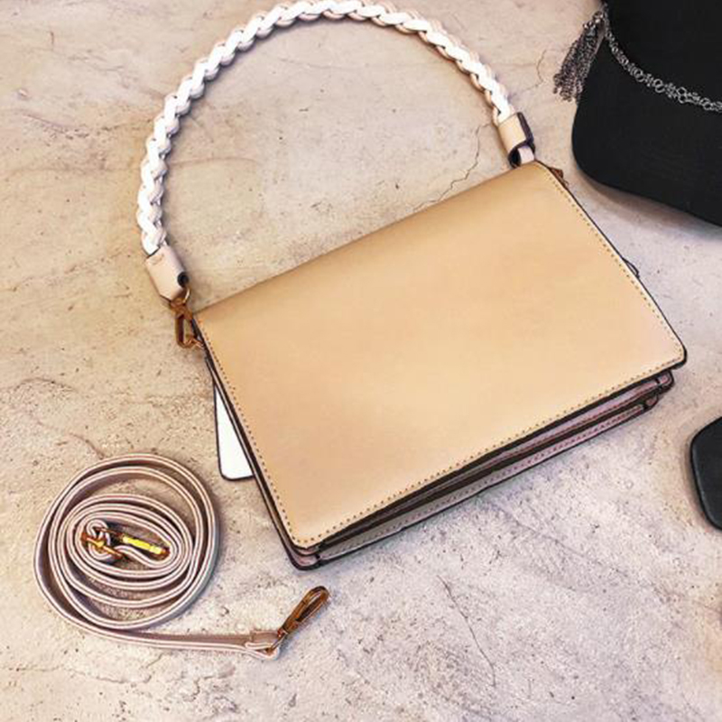 2019 New Weave Fashion Female Shoulder Messenger Bag Chain Crossbody Bags For Women Leather Handbags Small Clutch Bag Designer Women's Bags Luggage & Bags
