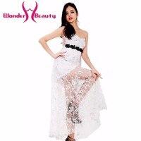 וונדר יופי אופנה אלגנטי סטרפלס המפלגה לבנה תחרת dress ללבוש באיכות גבוהה מקרית שמלות עבודת נשים ללא שרוולים סקסי לנשף