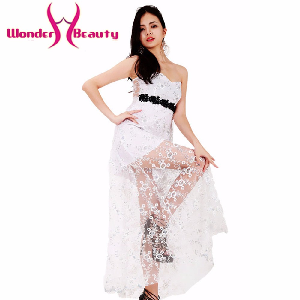 Wonder Beauty Fashion Elegant Strapless White Lace Party