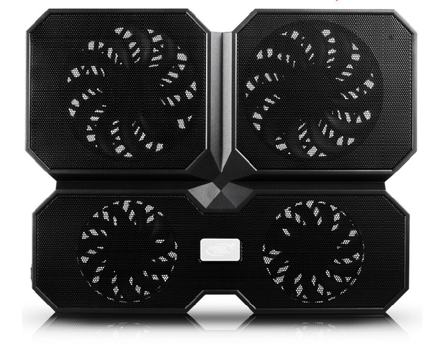 W433 Four  Fans Air-cooled Laptop Cooling Pads Notebook Cooler Pad Suporte Usb Fan Stand Base External Mini