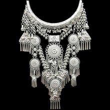 necklaces & pendants Bohemia Tassels necklace Retro Yunnan Ethnic exaggeration Miao silver Dance accessories Support wholesale