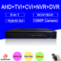 Hi3521A Blue-Ray 1080P/960P/720P/960H 16CH/8CH 5 in 1 Coaxial Hybrid TVI NVR AHD DVR Surveillance Video Free Shipping