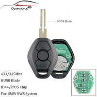 3 tasten 433Mhz ID44 chip HU58 Blade Remote Schlüssel für BMW 318 325 330 525 530 540 E38 E39 e46 EWS M5 X3 X5 Auto Schlüssel