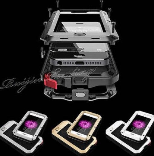 imágenes para Casos de teléfono Para Samsung Galaxy S3/S4/S5/S6/nota4/note5 de Gran Alcance A Prueba de Choques Impermeable De Aluminio de Metal Cubierta de gorilla Glass