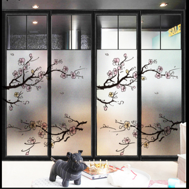 Window Glass Stickers Frosted Glass Office Bathroom Sliding Door