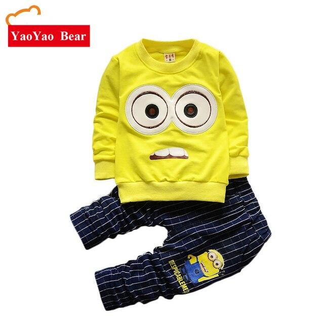 364f141c4 Baby Boys Girls Minions Cartoon Cotton Set Kids Clothing Sets Winter  Children Clothes Child T-