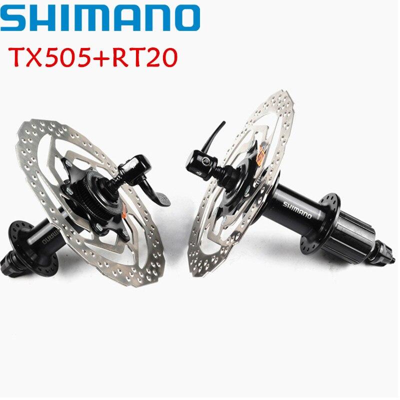 SHIMANO TX505 + RT20 160mm hub & rotor 8 9 10 VITESSE VTT vtt center lock 32 trou perle disque de frein vélo cycle hub