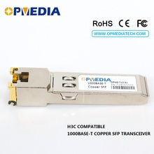 Equivalent to H3C 1000Base-T Copper SFP TRANSCEIVER,1000M optical module, RJ45 connector,GLC-T 1000base t copper sfp transceiver 1000m optical module rj45 connector compatible with huawei equipmet