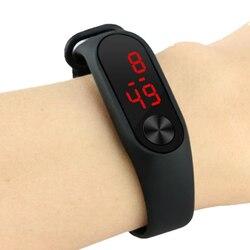 Модные детские спортивные цифровые светодиодные часы для мальчиков и девочек, новые мужские и женские рекламные пластиковые уличные наруч...