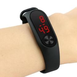 Модные спортивные цифровые светодиодные часы для мальчиков и девочек, новые мужские и женские пластиковые уличные наручные часы в подарок