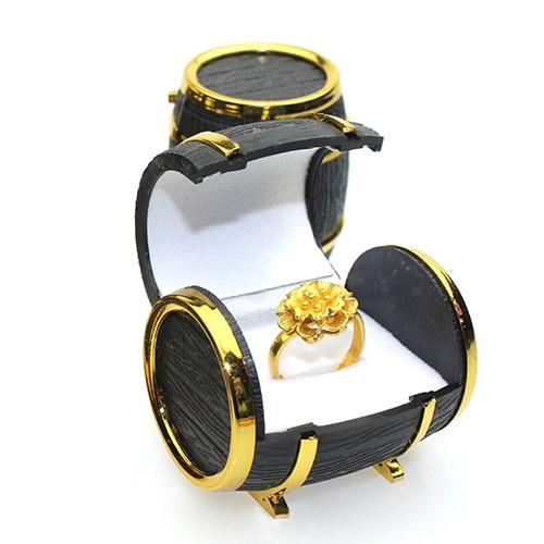 Retro Beer Barrel Jewelry Box Bracelet Necklace Storage Organizer Holder Case