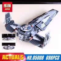 698Pcs 05008 Lepin Star Wars The Force Awakens Sith Infiltrator Building Block Darth Margus Compatible With