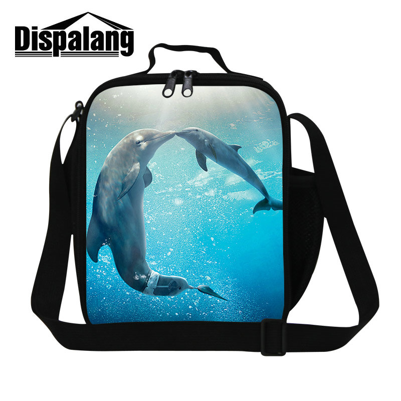 3eb809a02071 US $16.99 26% OFF|Dispalang Insulated Lunch Bags For Women Customize Design  Shark Lunch Box Bag For Kids Men Portable Thermal Food Insulation Bags-in  ...