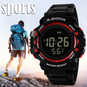 Men's Watch LED Digital Men watch Waterproof Sport Army Men Quartz Watch Electronic Outdoor Men Clock Relogio Masculino